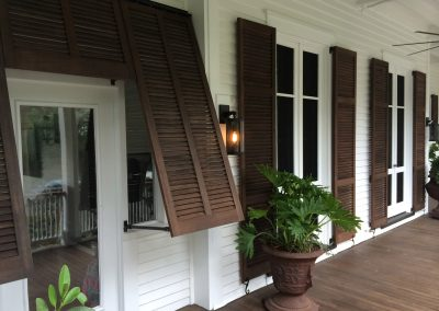 porch stained