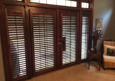stained interior shutters
